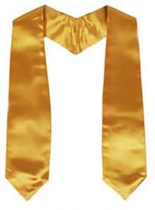 graduationmall école maternelle Unisexe Uni Graduation Stole 127cm Long – Or – Taille unique