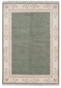 Luxor Living Tapis noué à la main au Népal vert «Choisir Taille» 300 x 400 cm