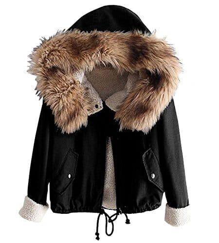 minetom femme fille hiver chaud manteau court capuche mode manches longues paissir doubl. Black Bedroom Furniture Sets. Home Design Ideas