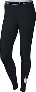 Nike – W NSW lggng Club logo2 – Collant pour femme – Noir/Blanc – Taille: S