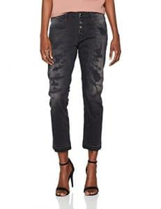 Guess Vanille Buttons, Jean Slim Femme, Noir (Wild Black), 34 (Taille Fabricant: 24)