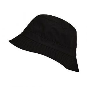 Toutacoo, Bob Imperméable RÉVERSIBLE, Chapeau de Pluie en Coton Tissé – Couleur .Noir