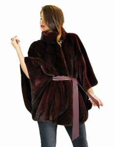 44 Burgandy mink skirt with leather belt pelliccia visone pelz nerz норка fourrure vison