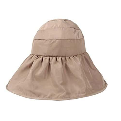 capeline femme fille bord large pliable chapeaux de soleil randonn e casquette visi re doux et. Black Bedroom Furniture Sets. Home Design Ideas