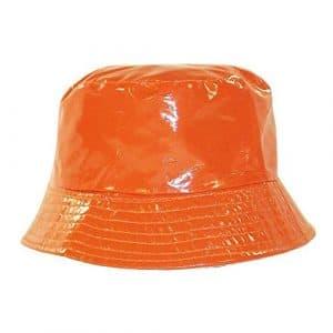 Chapeau-tendance – Bob de pluie orange – – Femme