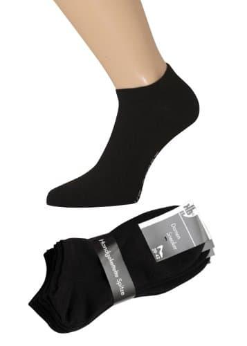 chaussettes de sport pour femme noir avec bordure confortable sans couture lot de 1 4 ou 8. Black Bedroom Furniture Sets. Home Design Ideas