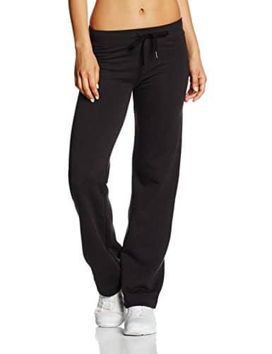 Fruit of the Loom – Ss096m – Pantalon De Sport – Droit – Femme – Noir – L (Taille fabricant: 14)