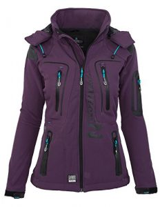 Geographical Norway – Manteau imperméable – Manches Longues – Femme – violet – M