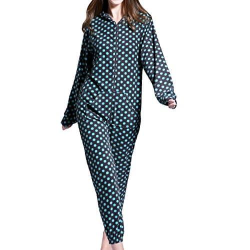 grenouill res femme combinaison pyjama capuche en polaire onesies airee fairee eu 40 42. Black Bedroom Furniture Sets. Home Design Ideas