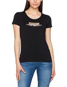 Kaporal Sixti, T-Shirt Femme, Noir (Black), X-Large (Taille Fabricant: XL)