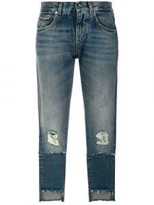 Dolce E Gabbana Femme Fta0pzg8v47s9001 Bleu Coton Jeans