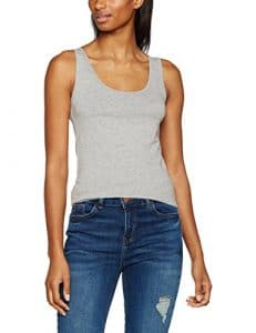 New Look Tall Basic Vest, Top Femme, Gris, 36