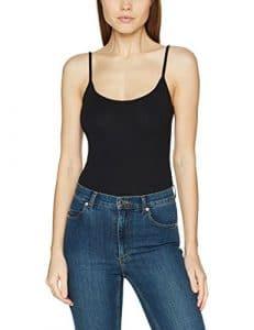New Look Seamed Body, Débardeur Femme, Noir (Black), 46 (Taille Fabricant: 18)