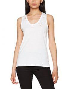 New Look Slash Nibbled, Débardeur Femme, Blanc (White 10), 44