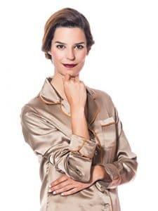 THECOCOONALIST Pyjama en Pure Soie – XS, Bronze
