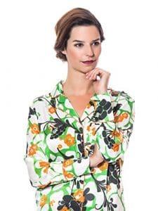 THECOCOONALIST Pyjama Fleuri en Soie – L, Flower Power
