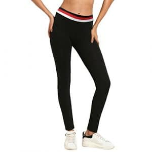 Familizo❤️ Pantalon de Yoga pour Femme, Leggings de Course à Pied Sport Haute Taille pour Femmes (Small, Noir)