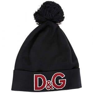 Dolce & Gabbana bonnet femme en laine noir