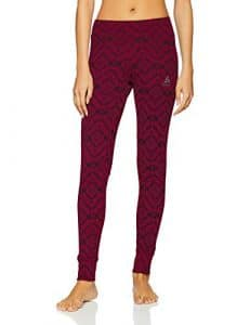 Odlo Collant Active Warm Kinship Femme, Pickled Beet, FR : S (Taille Fabricant : S)