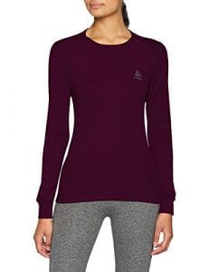 Odlo T- Shirt ML Active Warm Originals Manches Longues Femme, Pickled Beet, FR : S (Taille Fabricant : S)
