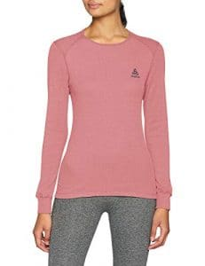 Odlo T- Shirt ML Active Warm Originals Manches Longues Femme, Mesa Rose, FR : S (Taille Fabricant : S)
