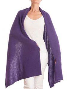 DALLE PIANE CASHMERE – Ètole 100% cachemire – Femme, Couleur: Violet, Taille unique