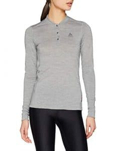 Odlo T- Shirt ML Natural 100% Merino Manches Longues Femme, Mélange Gris, FR : S (Taille Fabricant : S)