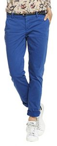Scotch & Soda Maison Slim Chino Pants In New Peached Twill Quality, Sold with a b, Pantalon Femme, Blau (Motown Blue 1206), 25W x 30L