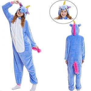 SunRlity Costumes Unisexe Kigurumi Lilo & Stitch Onesie Le Pyjama Film Adulte Ados Carnaval Cadeau De Noël (Blue Unicorn, M)