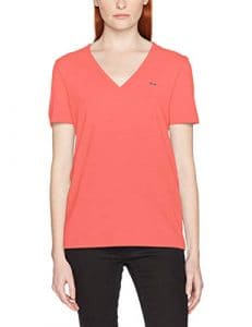 Lacoste TF8908 T-Shirt Femme Rose (Orange Calypso 7fy) 34 (Taille Fabricant:34) Lot de