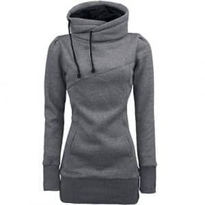 SAMFASHION Sweat à Capuche Femme, Noël Hoodie Imprime Tête de Mort Papillon Sweat Shirt Hiver Chaud Pull Vest Mode (S, Gris Longue)