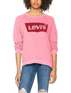 Levi's Relaxed Graphic Crew, Sweat-Shirt Femme, Rose (Hsmk Crew Sachet Pink 0026), Small
