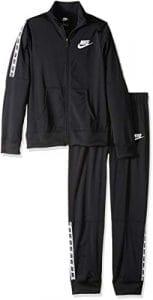 Nike G NSW TRK Suit Tricot Réchauffer Femme, Noir Black/White 010, FR Unique (Taille Fabricant : L)