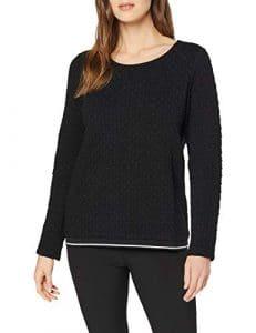 Street One 312822, Sweat-Shirt Femme, Noir (Black 10001), 44 (Taille Fabricant: 42)