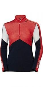 Helly Hansen LIFA Merino 1/2 Zip Thermique Chemise de Sport à Manches Longues Femme, Navy, FR : S (Taille Fabricant : S)