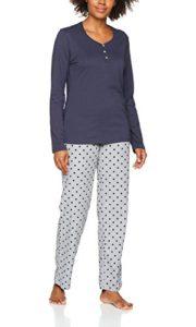 Esprit 077ef1y050 Ensemble De Pyjama, Gris (Light Grey 040), 42 Femme