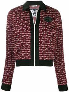 Miu Miu Femme Mjl6571ue5f0002 Bordeaux Viscose Sweatshirt