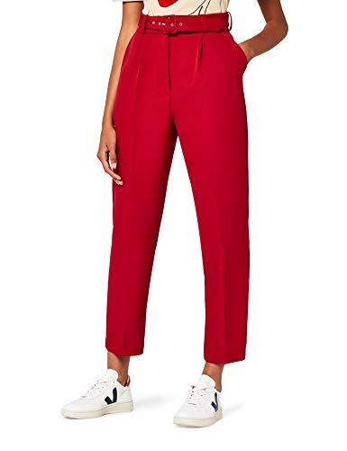 find. Pantalon à Pinces Court et Fuselé Femme, Rouge (New Red), W30/L32 (Taille fabricant:M)