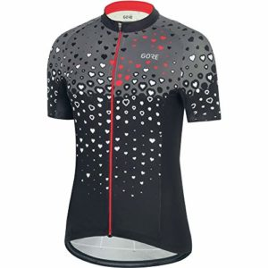 GORE WEAR Gore C3 Femme Maillot B, Black/Hibiscus Pink, FR : M (Taille Fabricant : 38)