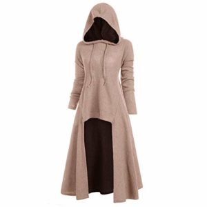 Holywin Mode Femme à Capuche Grande Taille Hauts de Chemisier Haut à Col Bas Vintage