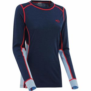 Kari Traa Tikse Manches Longues pour Homme–Femme, Femme, Naval, Small