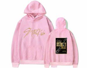 Kpop Straykids District 9 Unlock Unisexe Manches Longues Sweats à Capuche Imprimé Sweat-Shirt Pullover Outwear Minho Jisung Woojin Changbin Felix (3,M)