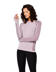 AURIQUE Top de Sport Femme, Violett (Purple Gumdrop Marl), 40 (Taille Fabricant: M)