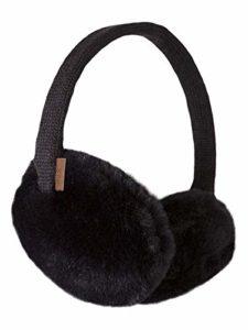Barts Plush Earmuffs Cache-Oreilles, Noir (Schwarz), Fabricant: Taille Unique Femme