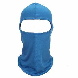 JUNSHU Cagoule Balaclava – Équipement de Sport/Coupe-Vent/Anti-poussière/Réglable équitation Masque,Multifonction Respirant extérieur Masque pour Ski Cyclisme Moto randonnée Camping (Bleu)