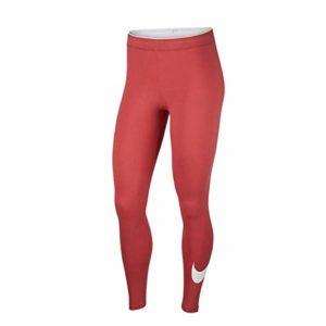 Nike W NSW Club logo2 Legging pour Femme – Rouge – X-Small
