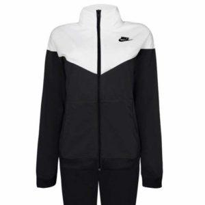 Nike W NSW TRK Suit PK Survêtement Femme, Black/White/Black, FR : L (Taille Fabricant : L)