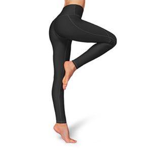 Occffy Leggings de Sport Femmes Fitness Taille Haute Pantalon Yoga Leggins avec Poches pour Gym Fitness Jogging Casual Oc01 (Noir, M)