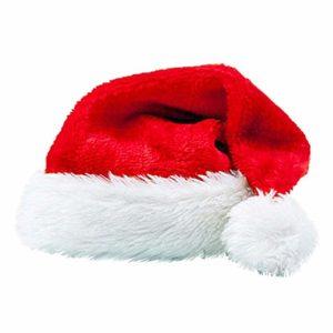 Barbarer Chapeau De Noel Adulte Homme Femme Épaissir Peluche Courte Bonnet de Noel Chapeau d'hiver Festival Warm Bonnet Respirant Caps