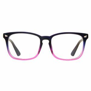 Cyxus Lunette Anti-Lumière Bleue, Lunettes d'Ordinateur – Anti fatigue Oculaire Filtre UV, Lunettes Anti-Lumière Bleue de Bureau pour Homme, Femme (Couleur Violet)
